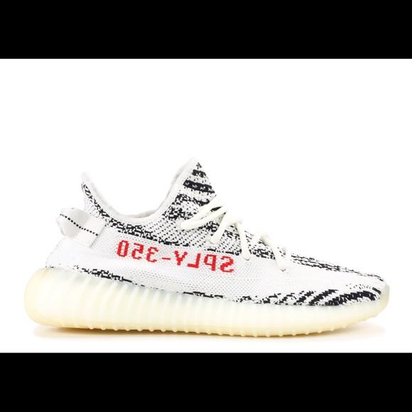 8831ecfc6 Adidas Poshmark 350 Shoes V2 Yeezy Kanye Zebra Boost West UqXv7wx71